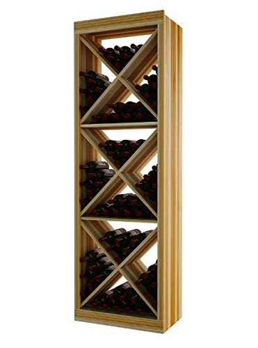 Wine Cellar Innovation Premium Redwood Designer Series Solid Diamond Cube, 6 (Designer Solid Diamond Cube)