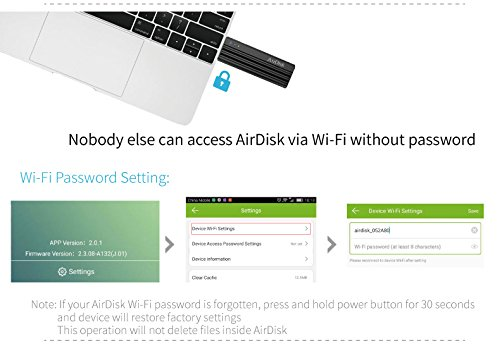 USB 3.0 Wireless Flash Drive, Universal Wireless Storage Stick for iPhone, iPad, Android Smartphone, Windows Phone, Tablet and Desktop(256GB) by airdisk® (Image #6)