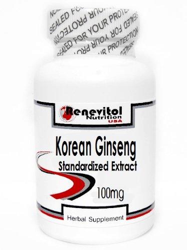 Korean Ginseng Standardized Extract 100mg 100 Capsules ~ Renevitol