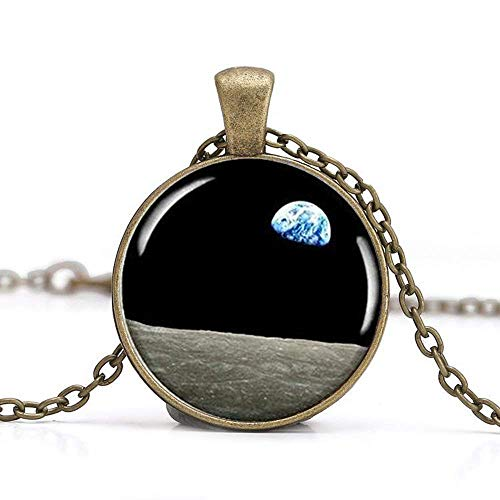 Moon Pendant, Moon Picture Necklace,earthrise Photo for sale  Delivered anywhere in Canada