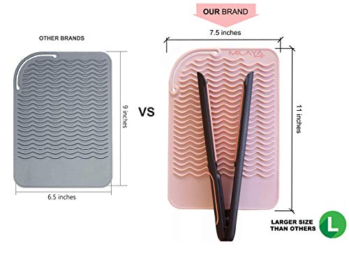 Professional Large Silicone Heat Resistant Styling Station Mat for All Hair Irons, Curling Iron, Straightener Pad, Iron…