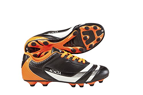 ACACIA Adult Thunder Soccer Shoes, Black/Orange, 9A