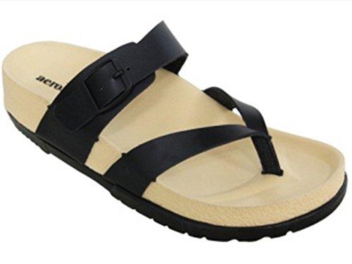 Aerosoft Womens Hola Sandale Noir