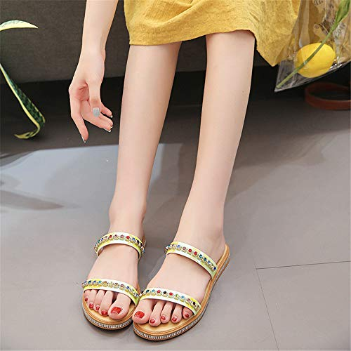 Paillettes Couleur Sauvage Jaune Wear Pantoufles Taille Plates Personnalité Femme Summer Yiwuhu 38 Jaune EU X8ZqRw
