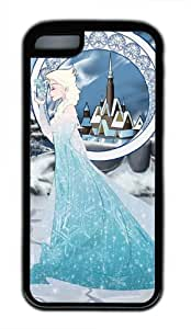 Customizablestyle Elsa the Snow Queen Elsa iPhone 5C TPU Black Rubber Shell Case
