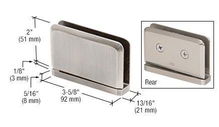 C.R. LAURENCE PPH0152BN CRL Brushed Nickel Prima #2 Pin 01 Series Top or Bottom Mount Hinge