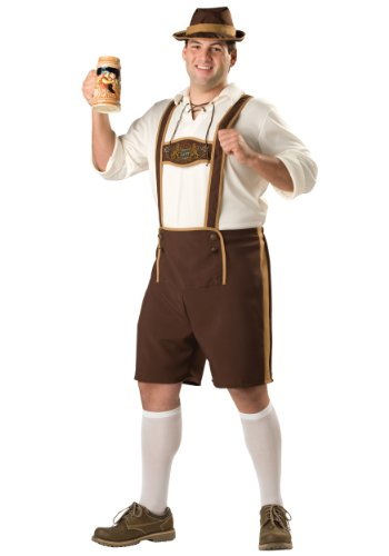 Plus Size Bavarian Guy Costume 4X Brown ()