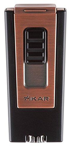 Xikar Trezo Triple Cigar Lighter - Black/Bronze