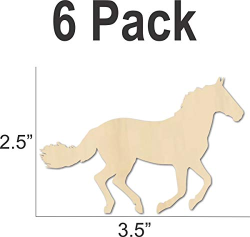 Running Horse Wood Cutout Shape - DIY party craft - decorate from model horse jumps