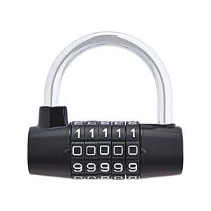 41eHjmUrMBL. SS300 AmazonBasics - Confezione da 1 lucchetto, AB-PL109, nero