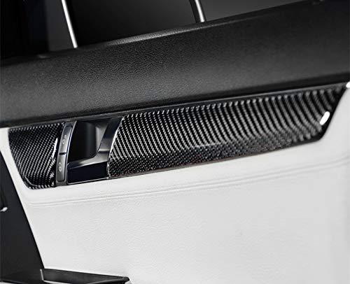 HOTRIMWORLD Carbon Fiber Interior Car Door Panel Trim Cover 4pcs for Mercedes-Benz C Class W204 S204 2007-2013