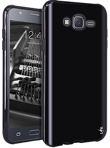 Ultra Clear Slim Case with Flip Cover for Samsung Galaxy J7 (Black) - 1