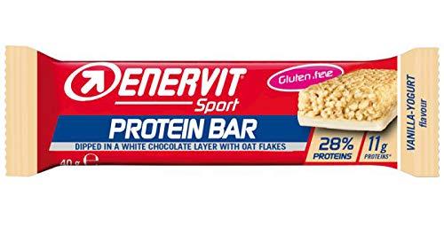Enervit Protein Bar   Eiwitreep met min. 26% eiwit per reep   High Protein Bar Glutenvrij   (Vanille Yoghurt, enkele…