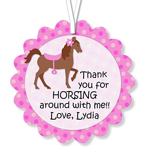 Personalized Little Pony Horse Birthday or Baby Shower Favor Tags - Optional Decorations Invitations, Sign, Thank You Cards - -