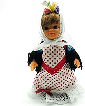 Amazon.es: Folk Artesanía Muñeca Regional colección de 15 cm Vestido típico Madrileña Chulapa Madrid España, Nueva y Original.: Juguetes y juegos