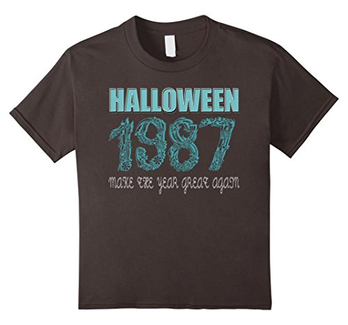 [Kids 30 th Birthday shirt Halloween costume ideas 1987 T-shirt 6 Asphalt] (1987 Halloween Costumes)
