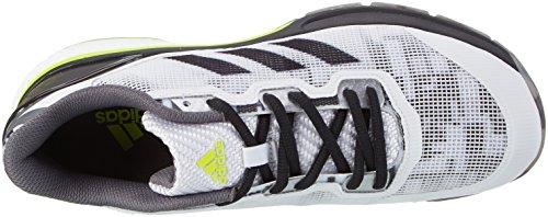 adidas Stabil Boost 20y, Zapatillas de Balonmano Hombre Blanco (Bianco Ftwbla/negbas/amasol)