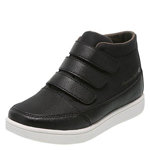 SmartFit Black Boys' Toddler Conor Triple-Strap Mid Sneaker 11 Regular by SmartFit