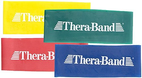 TheraBand Resistance Band Loop Set, Professional Latex Mini