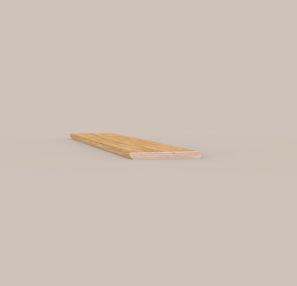 Z/ócalo moderno todo Madera de roble barnizado natural mm 10/x 70