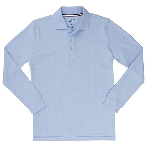 French Toast Long Sleeve Pique Polo Boys Blue 5