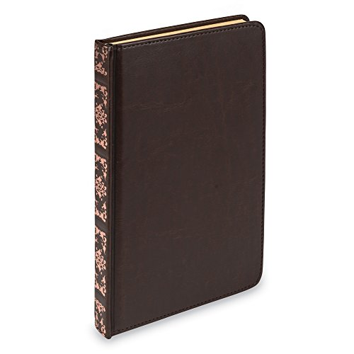 Samsill 22350 Antique Classic Size Writing Notebook, Hardbound Cover, 5.25 Inch x 8.25 Inch, 100 Vintage Look Ruled Sheets (200 Pages), Dark Brown (Diary, Journal) (Being In Love With A Married Man Poems)