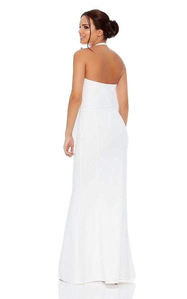 New Quiz Olivia Embellished Choker Fishtail Maxi Occasion Dress Uk Size 6-16