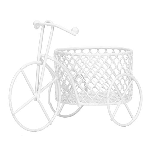 bromrefulgenc Candy Boxes,Candy Container hodler for Wedding Bridal Birthday Party Decors,Cute Iron Tricycle Art Decoration Wedding Sugar Jewelry Container Storage Holder - White
