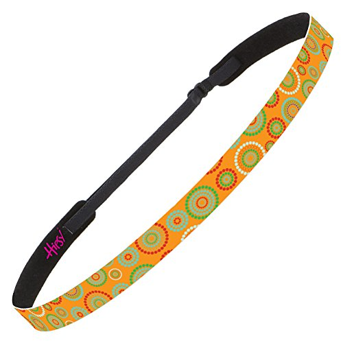 - Hipsy Adjustable No Slip Fashion Headbands for Women Dotted Circles Packs (Skinny Orange)