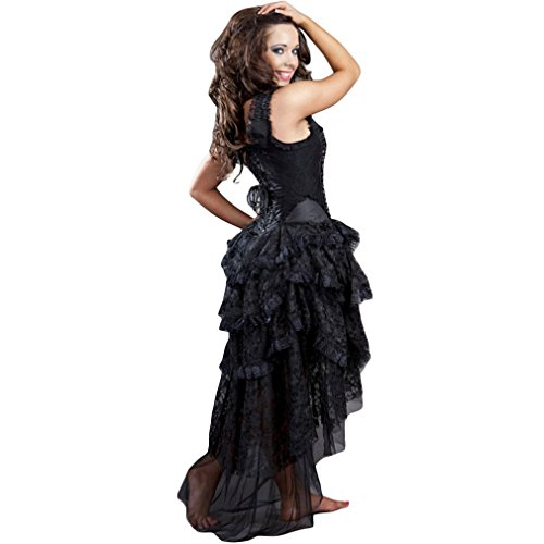 Taffeta Schwarz Korsett Viktorianisch Dress Ophelie Burleska Damen Kleid qOTRTxfw