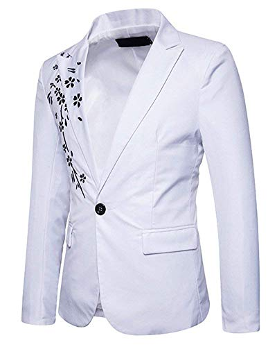 Laisla Suit Classiche Fit Sposa Prom Jacket Slim Ragazzi Da Blazer Smoking Giacche Bianca Vestito Uomo Elegante Ricamo Sweat Fashion Partito rzqAXr