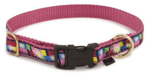 Premier Pet Fido Finery Quick Snap Collar Size Small 3/4 Daisy Block (Daisy Collar Block)