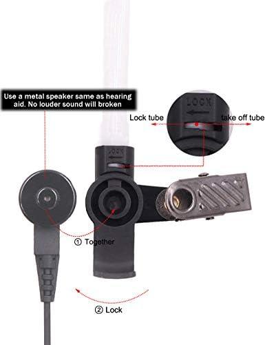 1 par Wlfys Auricular de radio de tubo ac/ústico de 3,5 mm con un par de orejeras medianas para micr/ófonos de altavoz