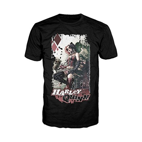 - Urban Species DC Comics Harley Quinn Comic Cover Official Men's T-Shirt (Black) (X-Large)