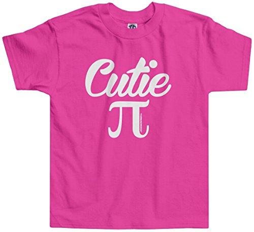 Threadrock Little Girls' Cutie Pi (Symbol) Toddler T-Shirt 3T Hot Pink (Cutie Pie Girl)