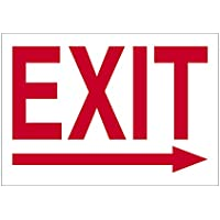 Imprint 360 AS-10007V Vinyl ADHESIVE Workplace Exit W/Right Arrow Sign- 7 x 10, Red / White, PROUDLY Made in the USA, Great Resistance to Water and Most Chemicals