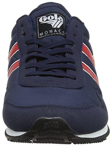 Gola Herren Monaco Sneaker Navy / Rot / Weiß