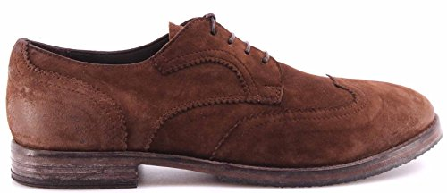 Zapatos Hombre MOMA 53603-Y1 Pelle Vitello Marrone Suede Brown Vintage Italy New