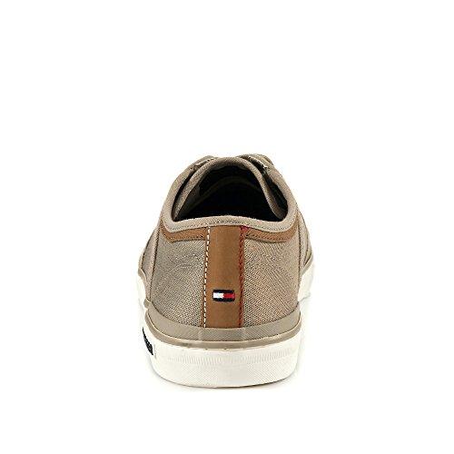 Tommy Hilfiger FM0FM01384068 Herren Sneaker Textilmaterial Flexible Laufsohle Graubraun