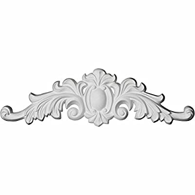 Ekena Millwork ONL16X04X01CO 16 1/8 inch W x 4 3/8 inch H x 3/4 inch P Cole Onlay,,, White