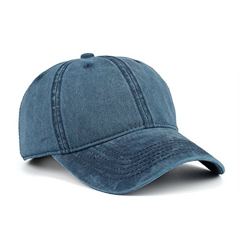 VANCIC Low Profile Washed Brushed Twill Cotton Adjustable Baseball Cap Dad Hat for Men Women (Navy Blue)