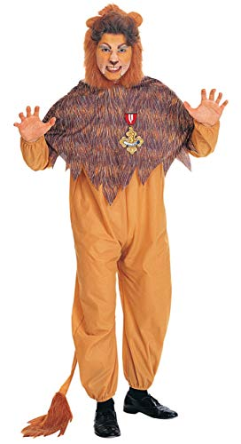 Wizard Of Oz Cowardly Lion Costume, Orange/Brown ()