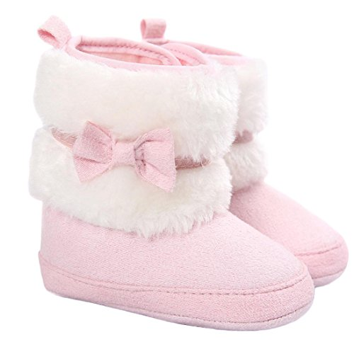 Baby Toddler Girls Snow Boots Shoes, TRENDINAO Kids Infant Girls Bowknot Boots Winter Warm Soft Sole Snow Boots Shoes