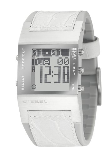 Diesel DZ7043 - Reloj digital de cuarzo para hombre con correa de piel, color blanco: Amazon.es: Relojes
