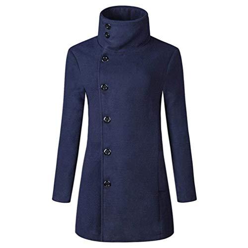 Long D'hiver Mode Chic Manteau Hommes Slim Coupe Parka Trench Vestes vent Fit Marineblau Coat Chaud xfnRnqpP1
