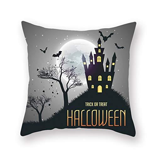 Pillow cases HYGCGH7Y Decorative,Fall Halloween Pumpkin Printed Waist Throw Cushion Cover Sofa Home Decor