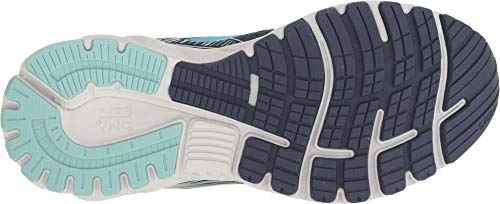 Brooks Women's Adrenaline GTS 19 Navy/Aqua/Tan 5 D US by Brooks (Image #2)