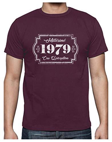 Anniversaire Cru shirts 40 Bordeaux D'éxception Millesimé Turtle T 1979 T shirt Ans Green Homme wSnq0XaE