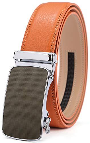 (Men's Belt,Bulliant Slide Ratchet Belt for Men with Genuine Leather 1 3/8,Trim to Fit)