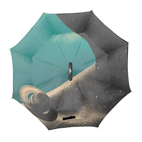 I2 Shaft - Travel Umbrella Compact Automatic Open Close Folding Ntomy I Umbrellas fit Golf Purse Backpack Wind Resistant for Men and Women